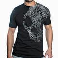 Detail produktu - Skullcandy, T-shirt Line Skull - Black / White (L)