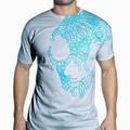 Detail produktu - Skullcandy, T-shirt Line Skull - Silver / Cyan (M)