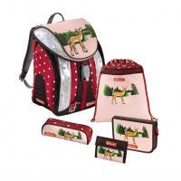 Školní batoh - 5-dílný set, Flexline Srneček, certifikát AGR - zvětšit obrázek