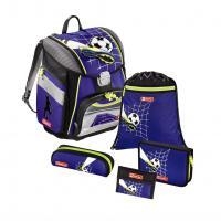 Školní aktovka pro prvňáčky - 5-dílný set, Step by Step Fotbal, certifikát AGR - zvětšit obrázek