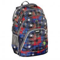 Školní batoh Coocazoo EvverClevver, Dope Square Red, certifikát AGR - zvětšit obrázek
